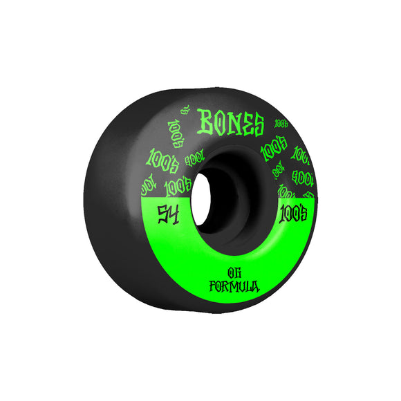 Bones Bones Logo V4 Wides 100's wheels (54mm), Black