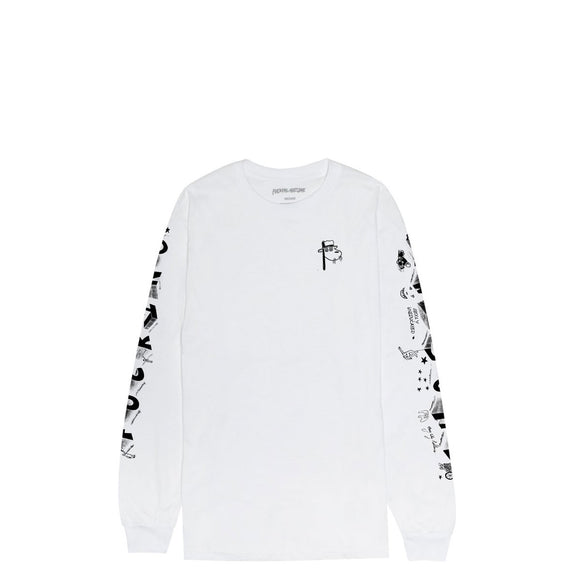 Fucking Awesome Block Letters L/S tee FA-LS002-HO19 White Canada