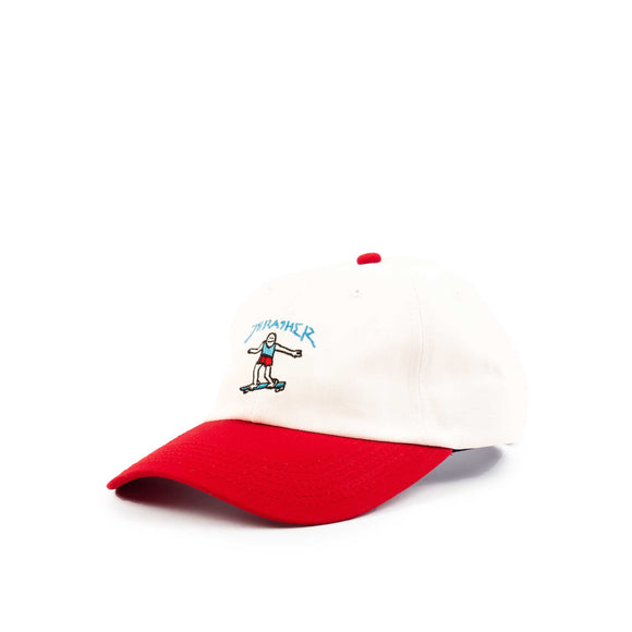 Thrasher Gonz Old Timer Hat, White/red