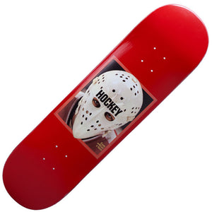"Hockey Eyes Without A Face Deck - Red (8.50"")"