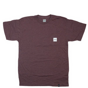 HUF Box Logo Pocket Tee - Wine Heather