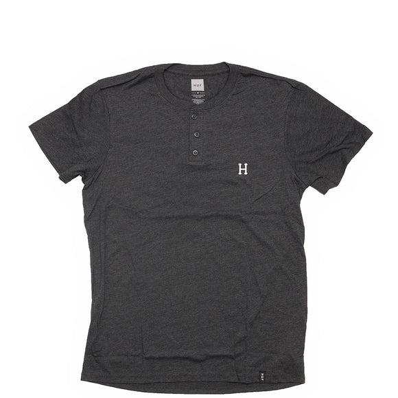 HUF Classic H Henley - Charcoal Heather