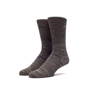 HUF Melange Crew Sock - Olive/Black/Grey