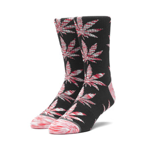 Huf Melange Leaves Plantlife socks, Black Canada weed socks