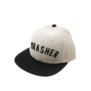 HUF x Thrasher Vintage Baseball 6 Panel - White