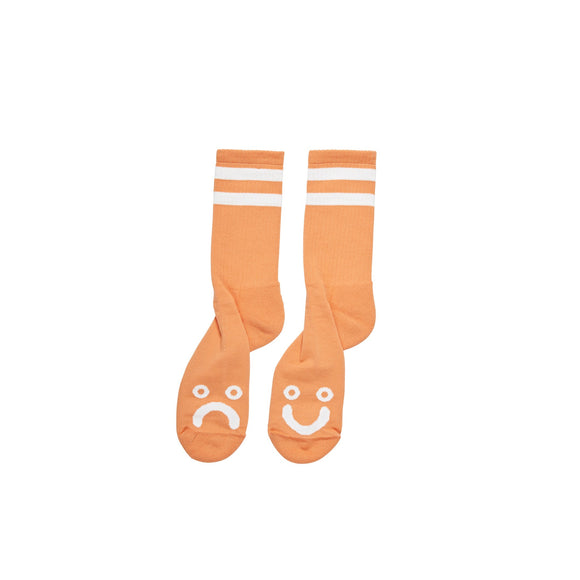 Polar Happy/Sad socks, light orange