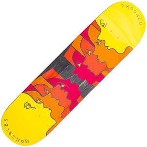 "Krooked Gonz Face Off deck (8.25""x 32.2""), Full"
