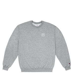 Classic Embroidered Reflective Classic Grip crewneck heather grey Canada