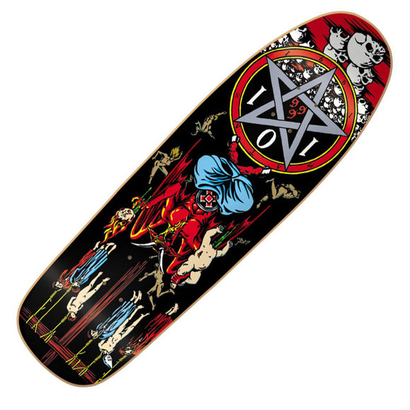Cliché X 101 Skateboards Natas Kaupas Screened Devil Worship Reissue Deck (9.6