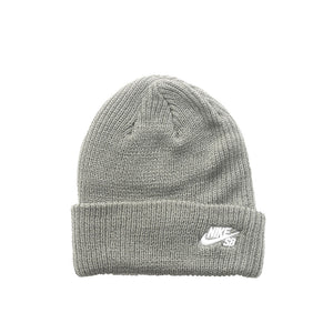 Nike SB Fisherman Beanie - Tumbled Grey/White
