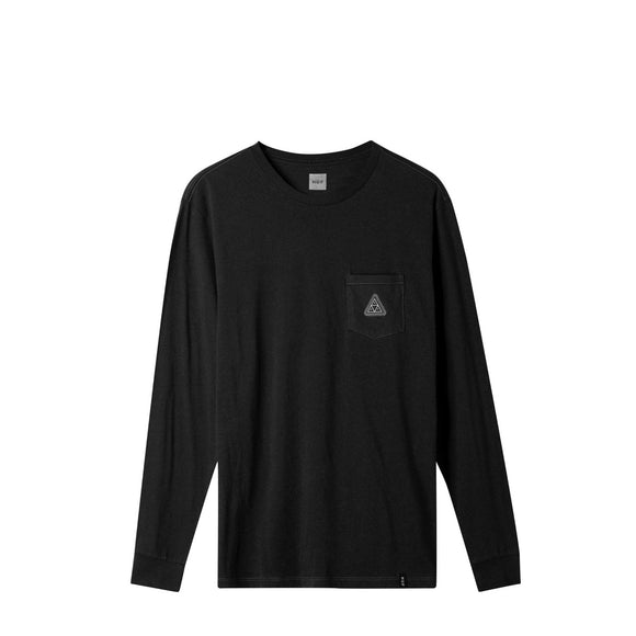 Huf Peak Patch L/S Pocket tee black Canada