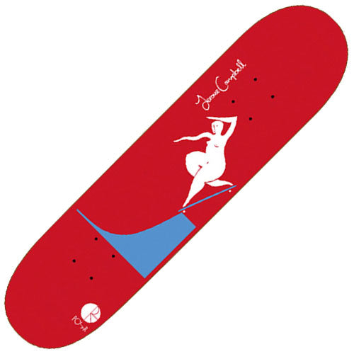 Polar Jerome Campbell BS Noseblunt Deck, Red (8