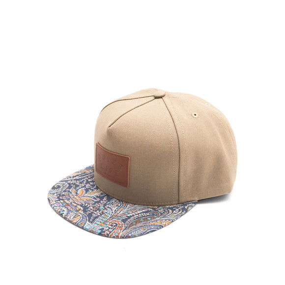 Quiet Life Paisley Bill strap hat, Tan