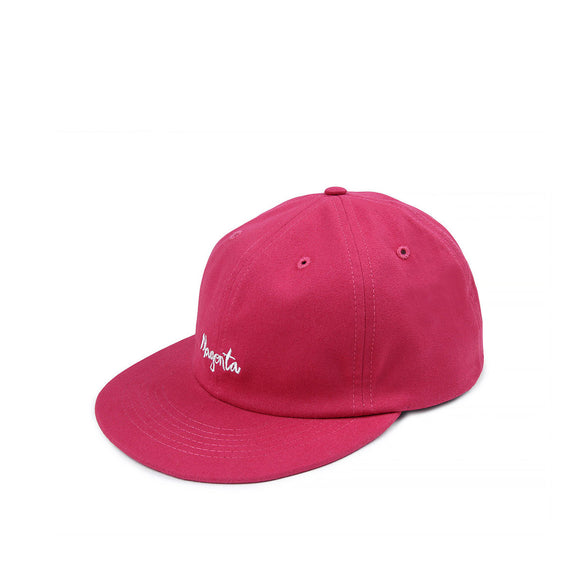 Magenta Script six panel hat, rose Canada