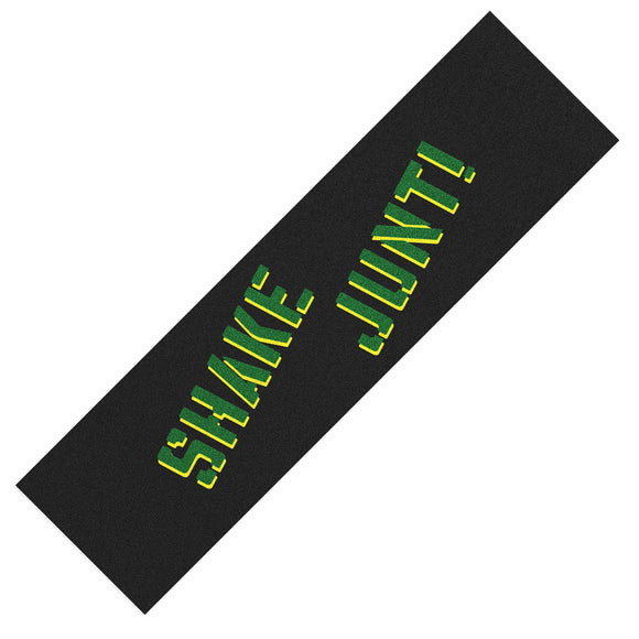Shake Junt Spray Griptape Sheet - Green/Yellow