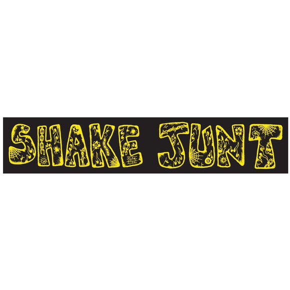 Shake Junt Lotties sticker, black/yellow
