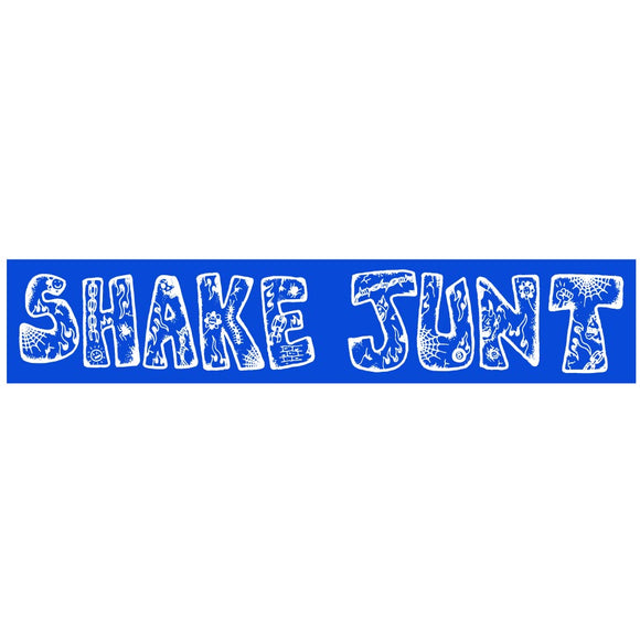 Shake Junt Lotties sticker, blue/white