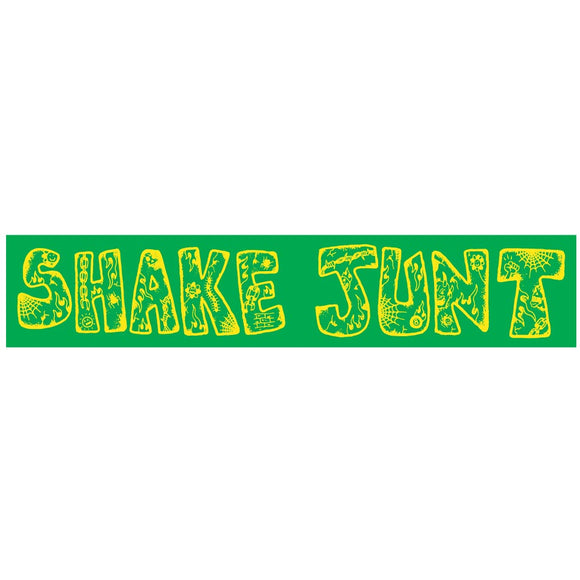 Shake Junt Lotties sticker, green/yellow