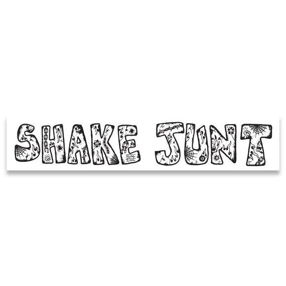 Shake Junt Lotties sticker, white/black