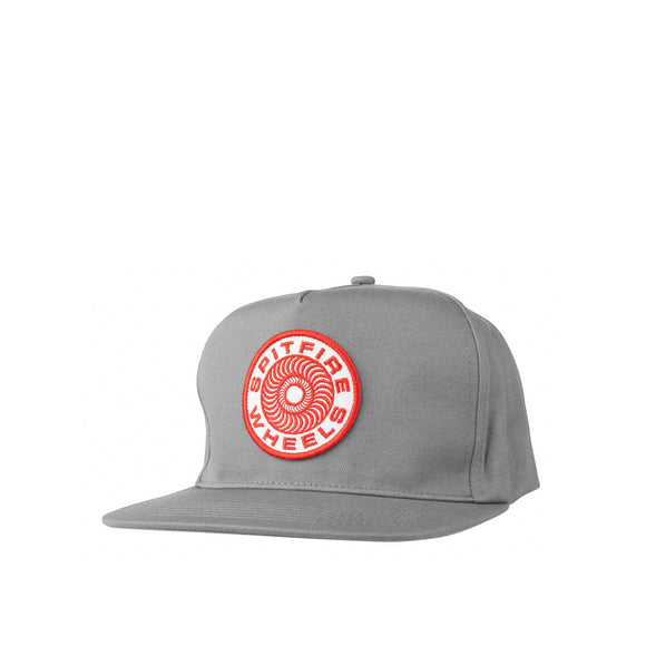Spitfire Classic 87' Swirl Snapback hat, grey/red/white Canada