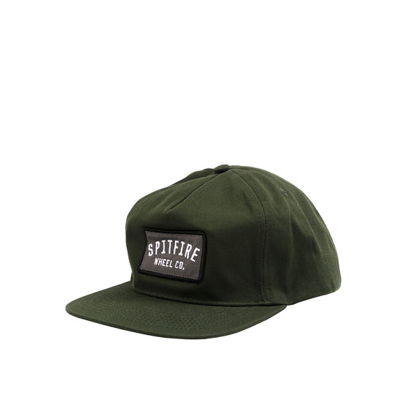 Spitfire Wheel Co. Label Snapback Hat - Green