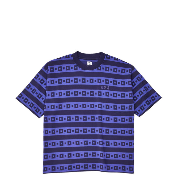 Polar Square Stripe Surf tee Navy/Purple Canada