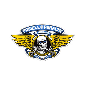 "Powell Peralta Winged Ripper sticker (5""), Blue"