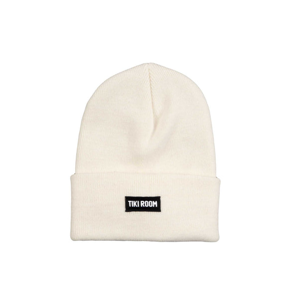 Tiki Room Straight Label premium beanie, ivory