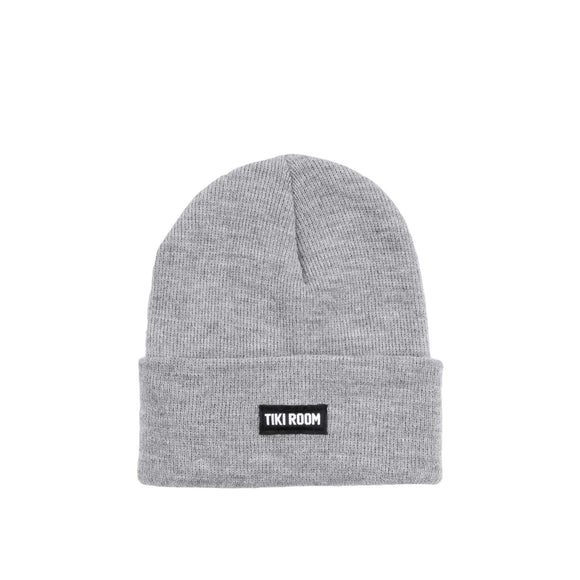Tiki Room Straight Label premium beanie, athletic grey