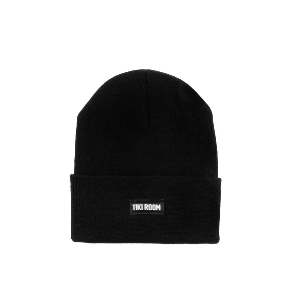 Tiki Room Straight Label premium beanie, black