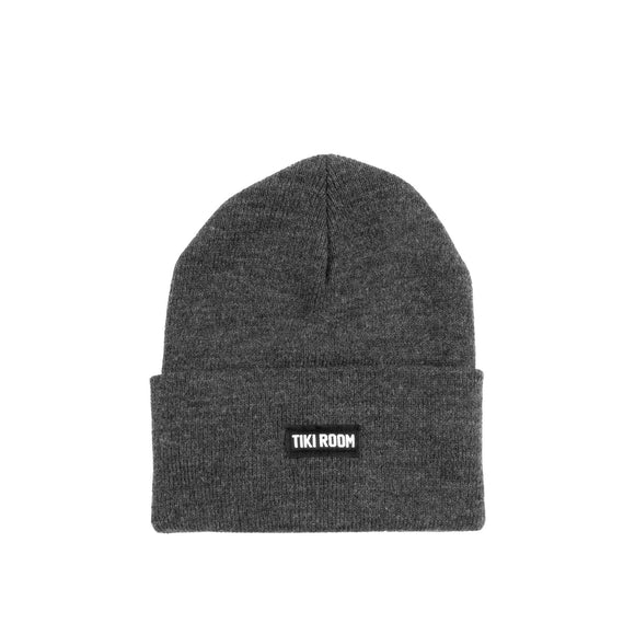Tiki Room Straight Label premium beanie, charcoal