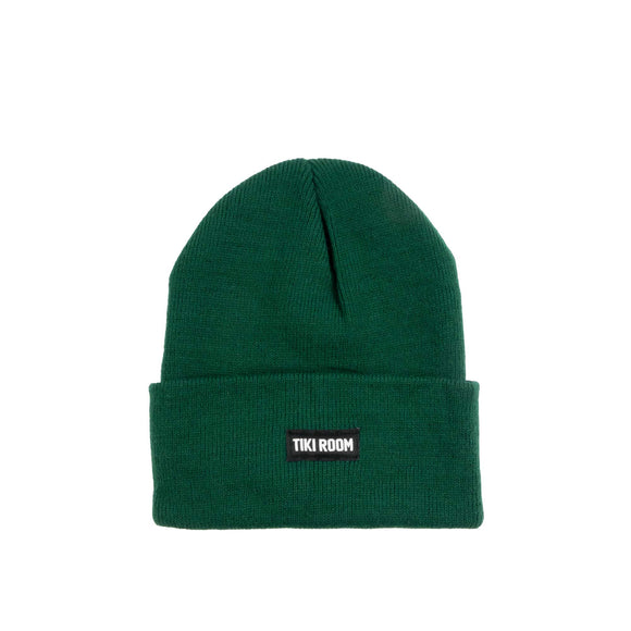 Tiki Room Straight Label premium beanie, forest