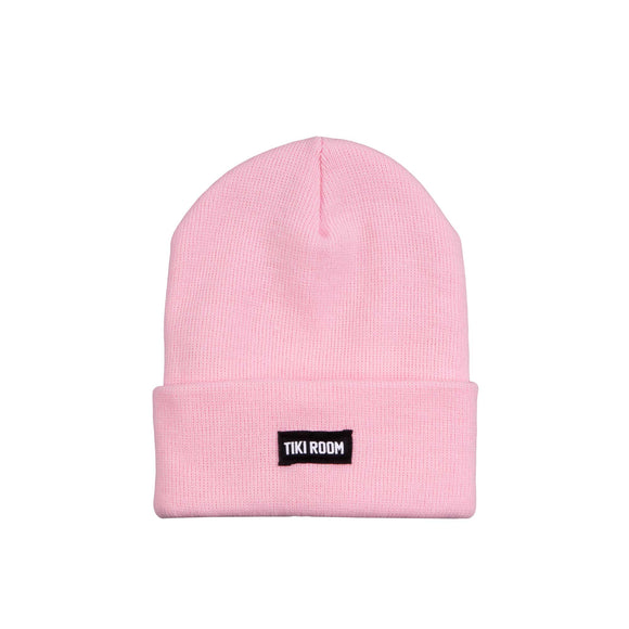 Tiki Room Straight Label premium beanie, light pink