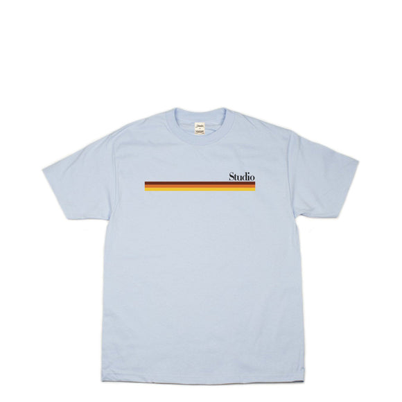 Studio Mellow Stripes tee powder blue Canada