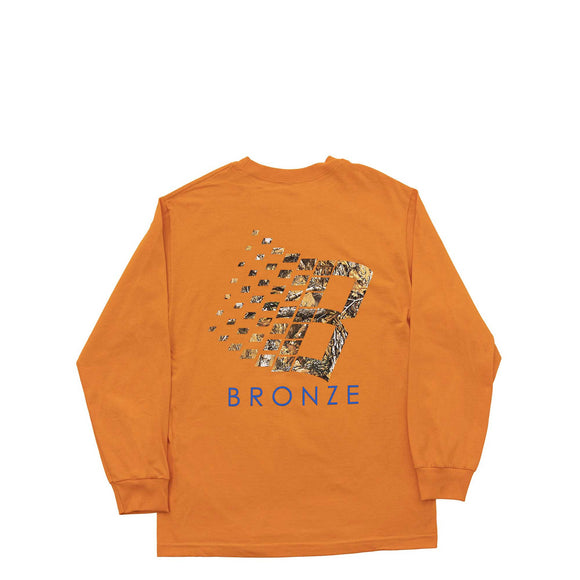 Bronze B Logo Tree longsleeve tee orange Canada