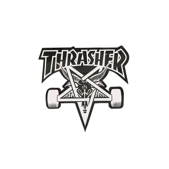 Thrasher Skategoat sticker, black/white text