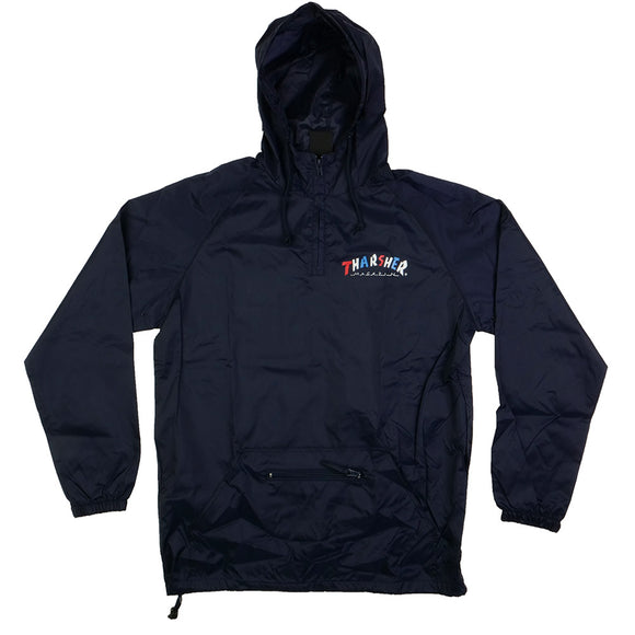 Thrasher Knock-Off Pullover Anorak Jacket - navy - Canada
