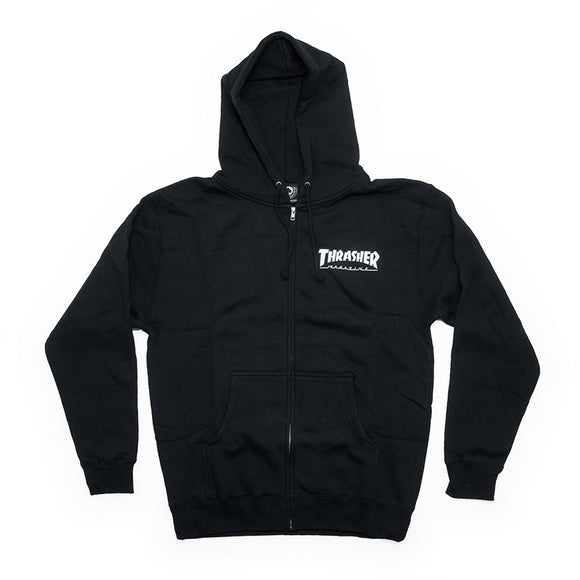 Thrasher Magazine Logo Zip Up Hood