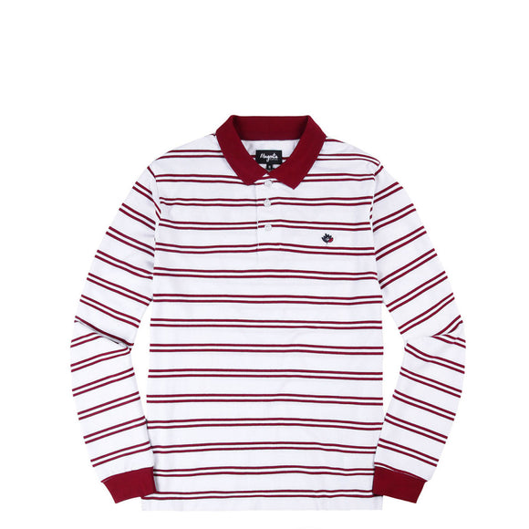 Magenta Stripped Polo L/S Shirt white Canada