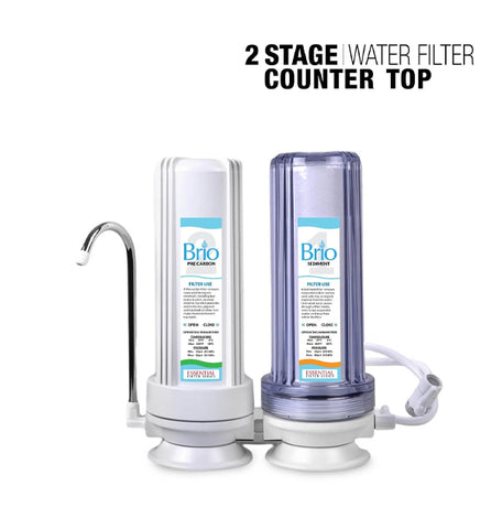 2 Stage Countertop Drinking Water Filter System, Brio Essential