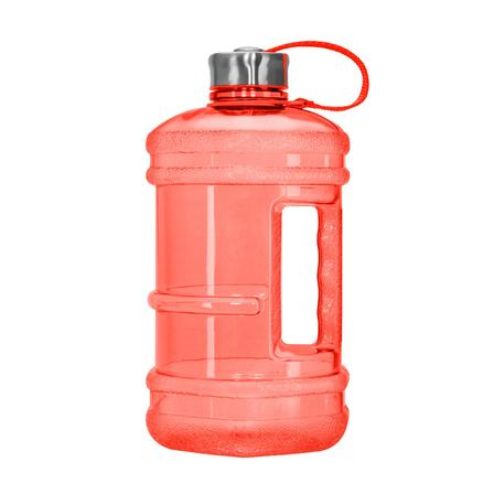 1/2 gallon BPA Free Water Bottle, Plastic Bottle, Sports Bottle, with Handle and Stainless Steel Cap, GEO