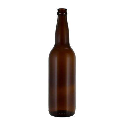Glass Beer Bottle, Amber Color