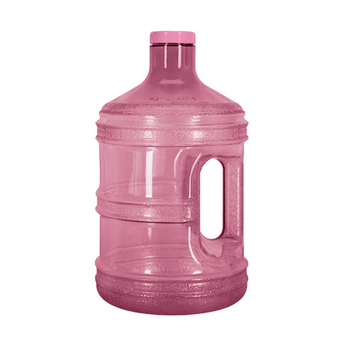 BPA Free 1 Gallon Water Bottle, Plastic Bottle, Sports Bottle, PC Bottle, with Screw Cap and Handle, GEO