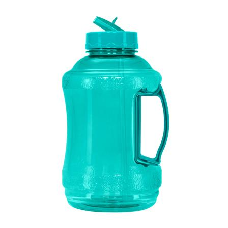 1/2 Gallon BPA Free Water Bottle, Plastic Bottle, Sports Bottle, with Handle and Straw Cap, GEO