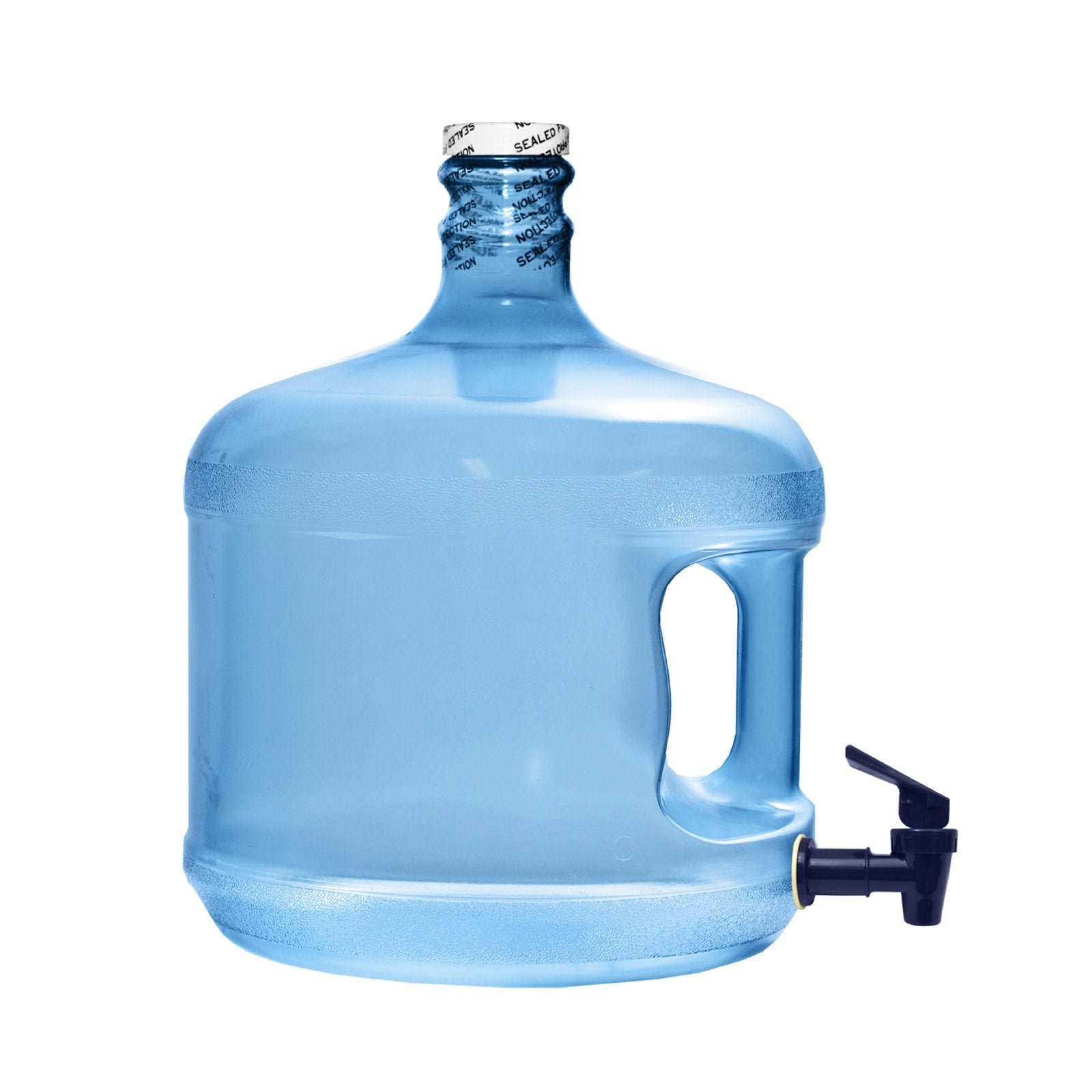3 Gallon Polycarbonate Plastic Reusable Water Bottle with Screw Top and Valve
