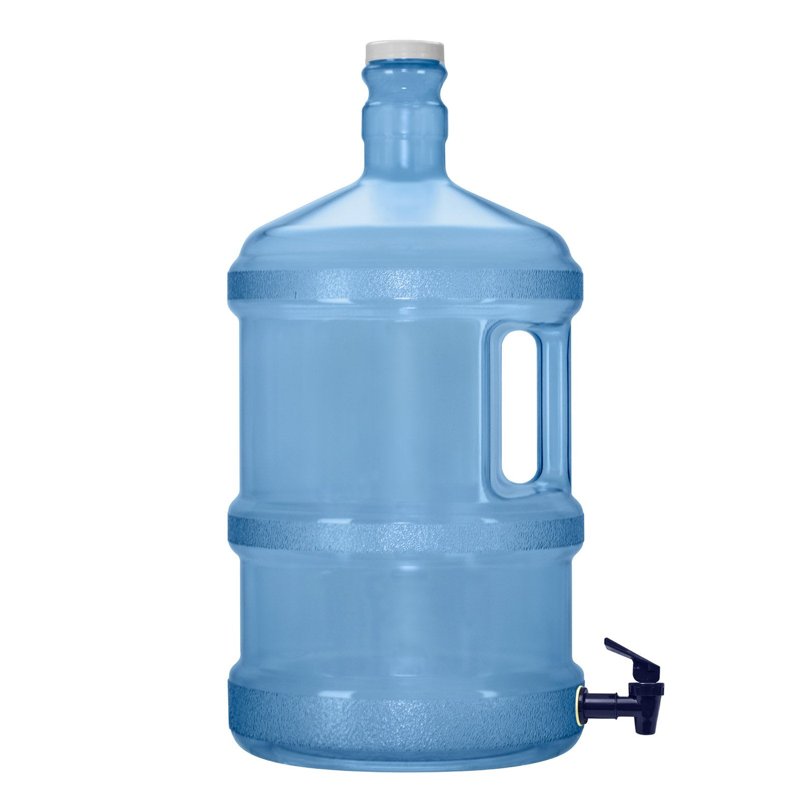 3 Gallon Polycarbonate Plastic Reusable Water Bottle with Screw Cap and Valve