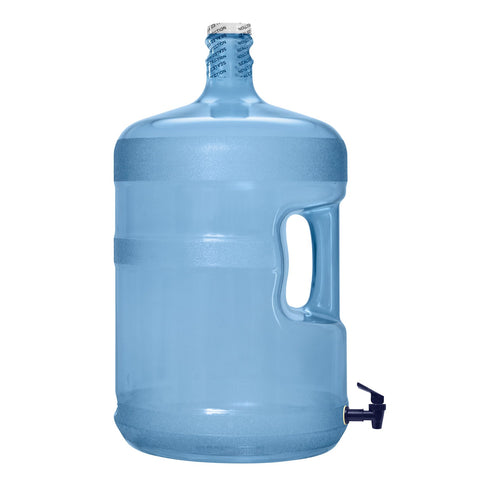 5 Gallon Polycarbonate Plastic Reusable Water Bottle with Screw Cap and Valve