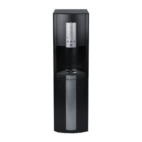 Hot Cold and Room Temp Filtered Water Dispenser Cooler POU, Tri Temp, Black and Brush Stainless Steel, Brio Premiere
