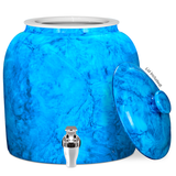 Marble Porcelain Water Crock with Chrome Faucet