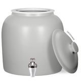 Matte Porcelain Water Crock with Chrome Faucet